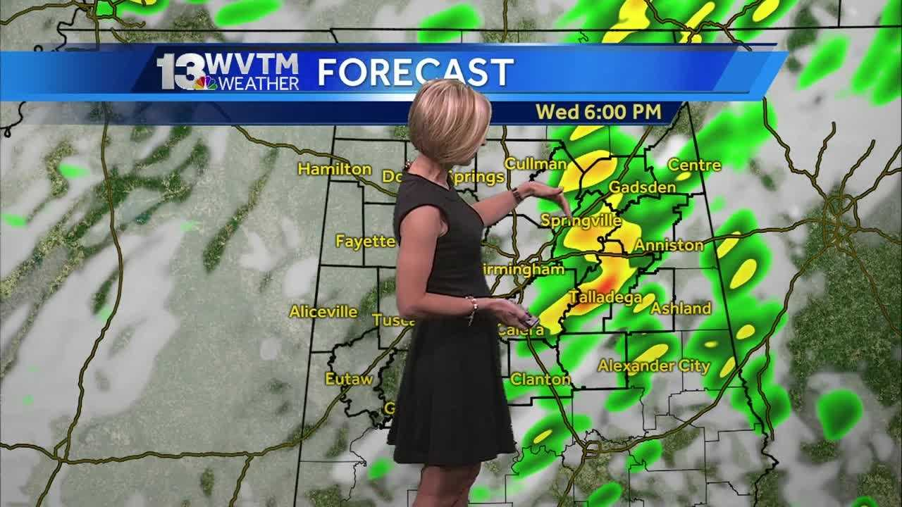 Meteorologist Stephanie Walker has the latest on the thunderstorms expected later today