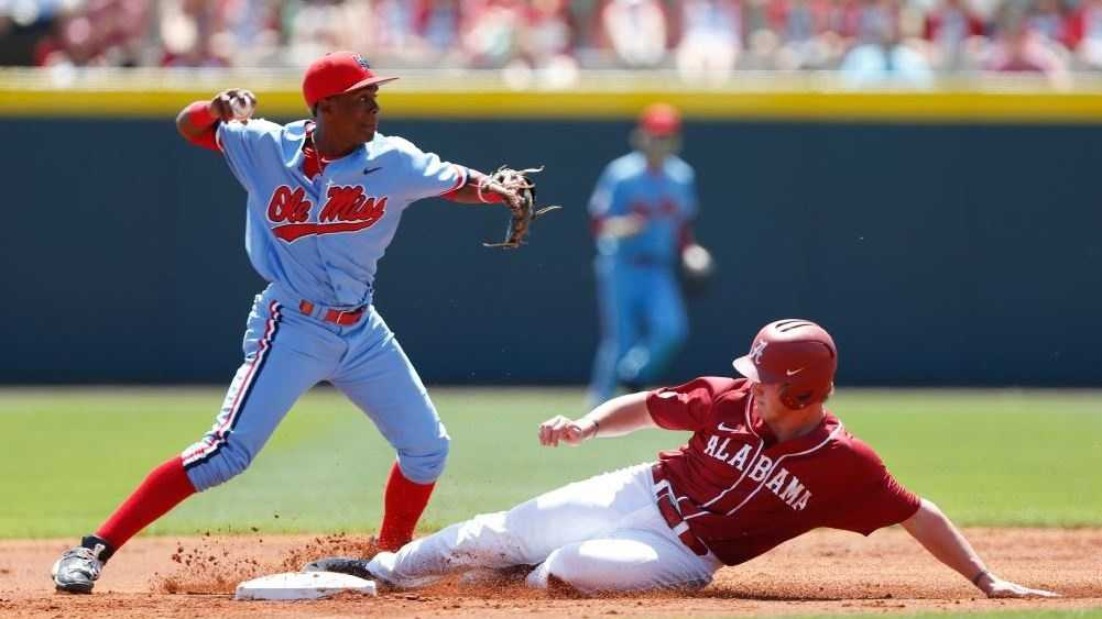 A six-run fifth inning proved the difference in the rubber match, as Alabama baseball finished off eighth-ranked Ole Miss, 7-2, on Sunday afternoon in front of a sellout crowd of 6,354 at Sewell-Thomas Stadium.