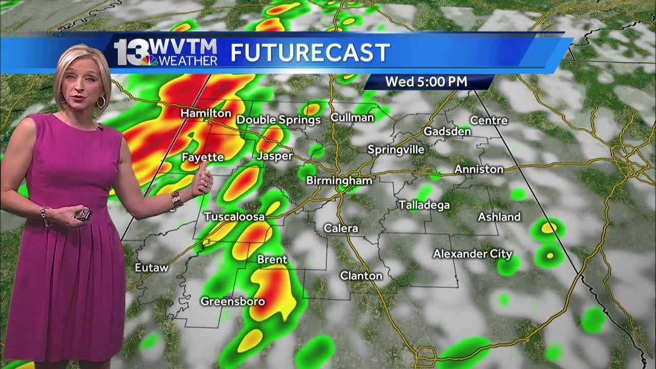 There is a limited threat for a couple of strong or severe thunderstorms today