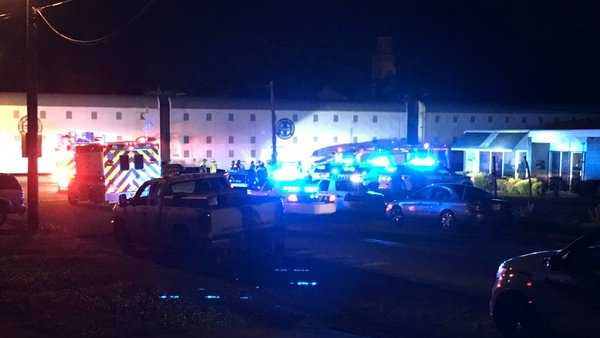 Emergency crews were called to 1025 16th Place SW in Birmingham just after 10 p.m. Tuesday on reports of a train collision with a truck.