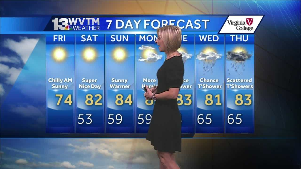 Meteorologist Stephanie  Walker has the latest on the weekend weather