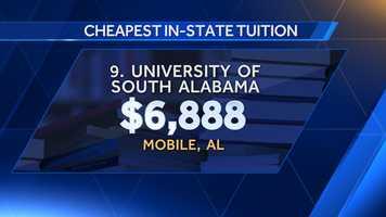 9. University of South Alabama