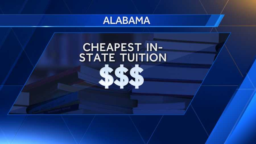 A list of the 10 cheapest in-state tuition colleges in Aalabama