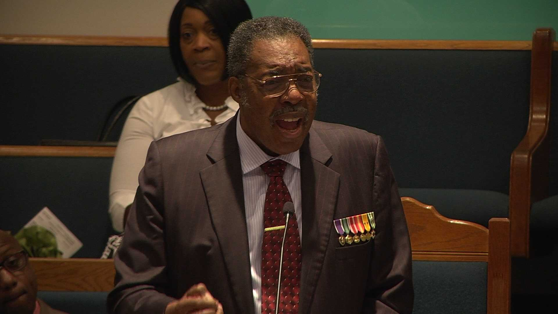 Henry Thomas was one of 13 civil rights activists, both black and white, who rode a Greyhound bus into the South through Anniston on May 14, 1961. Thomas is speaking in Alabama this week.