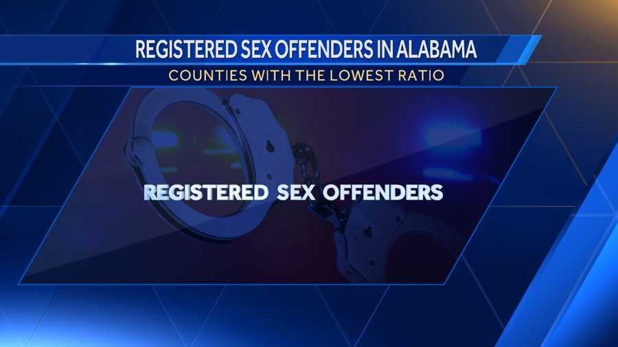 Here is a list of Alabama counties with the lowest ratio of registered sex offenders per 10,000 residents according to HomeFacts.com.