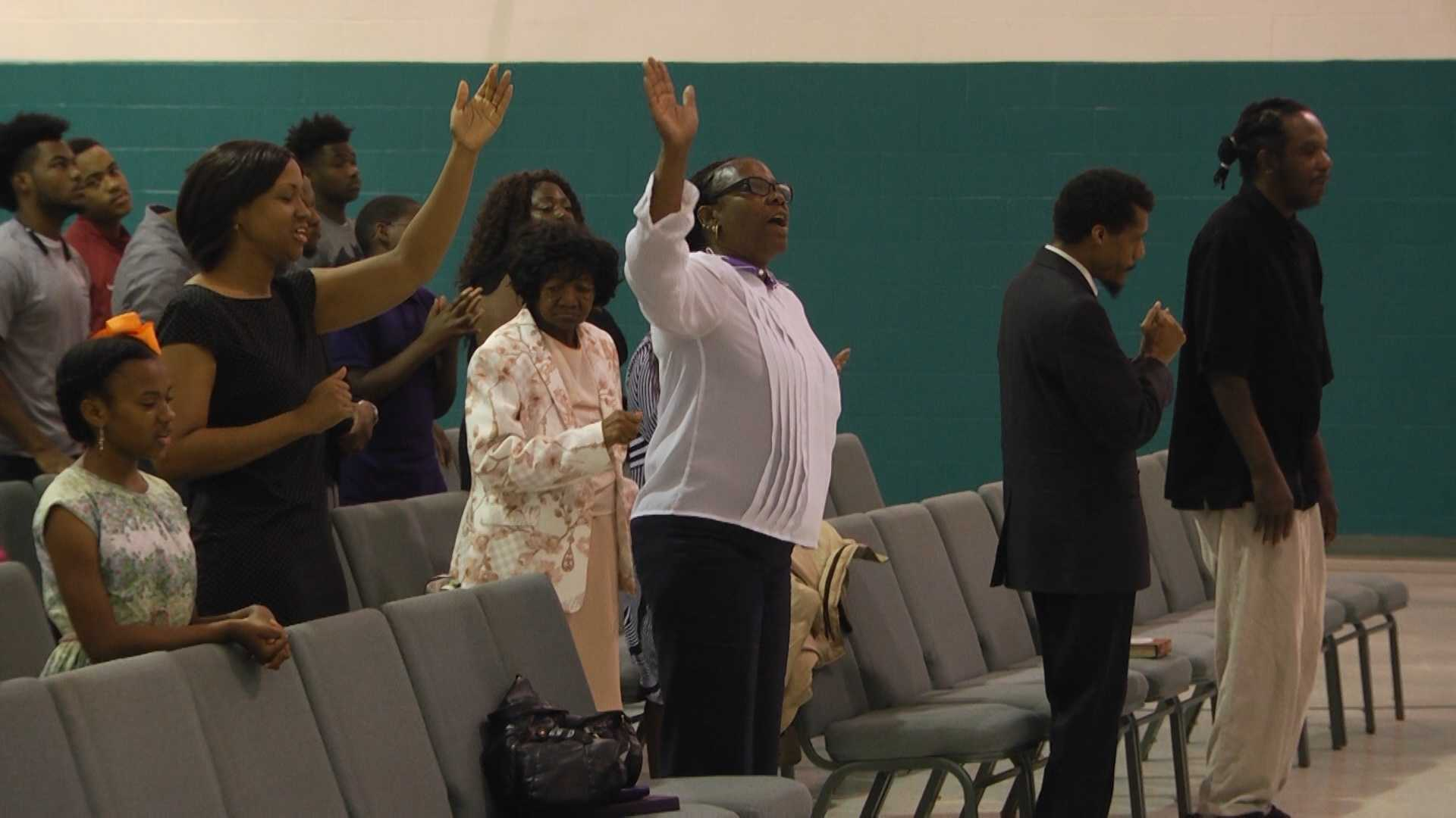 A Birmingham church destroyed by a fire Saturday afternoon has found a new, temporary home in the gymnasium of Christ Temple Deliverance Church in Ensley.