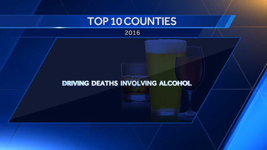 Here is a list of the 10 most highest rated counties in Alabama for driving deaths involving alcohol in 2016 according to DataUSA.