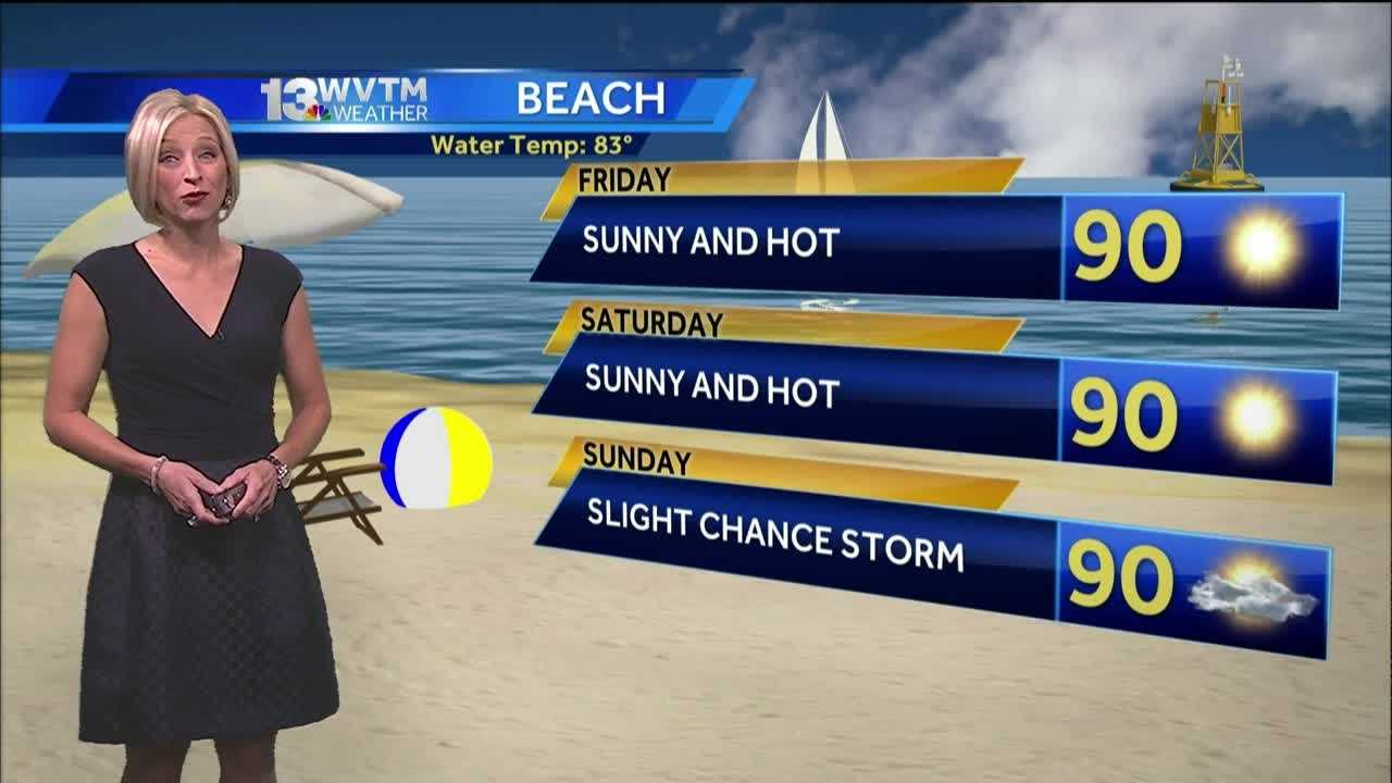 Meteorologist Stephanie Walker has the latest on the forecast