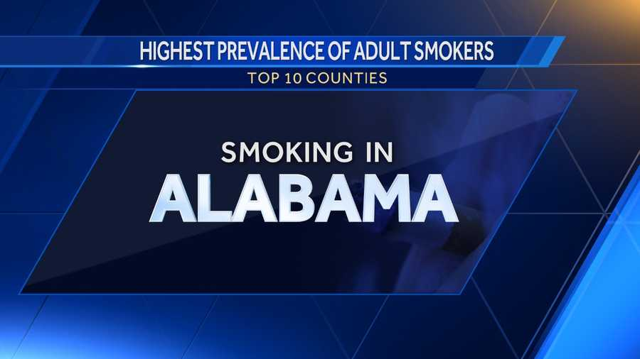 Here is a list of counties in Alabama with the highest prevalence of adult smokers according to DataUSA.