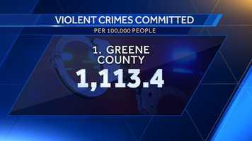 1. Greene County: 1,113.4