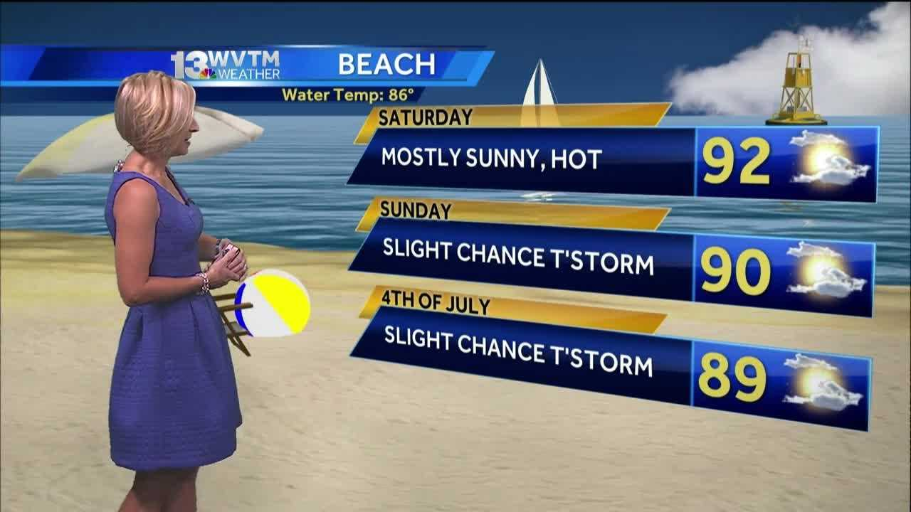 Meteorologist Stephanie Walker has the latest on the holiday weekend