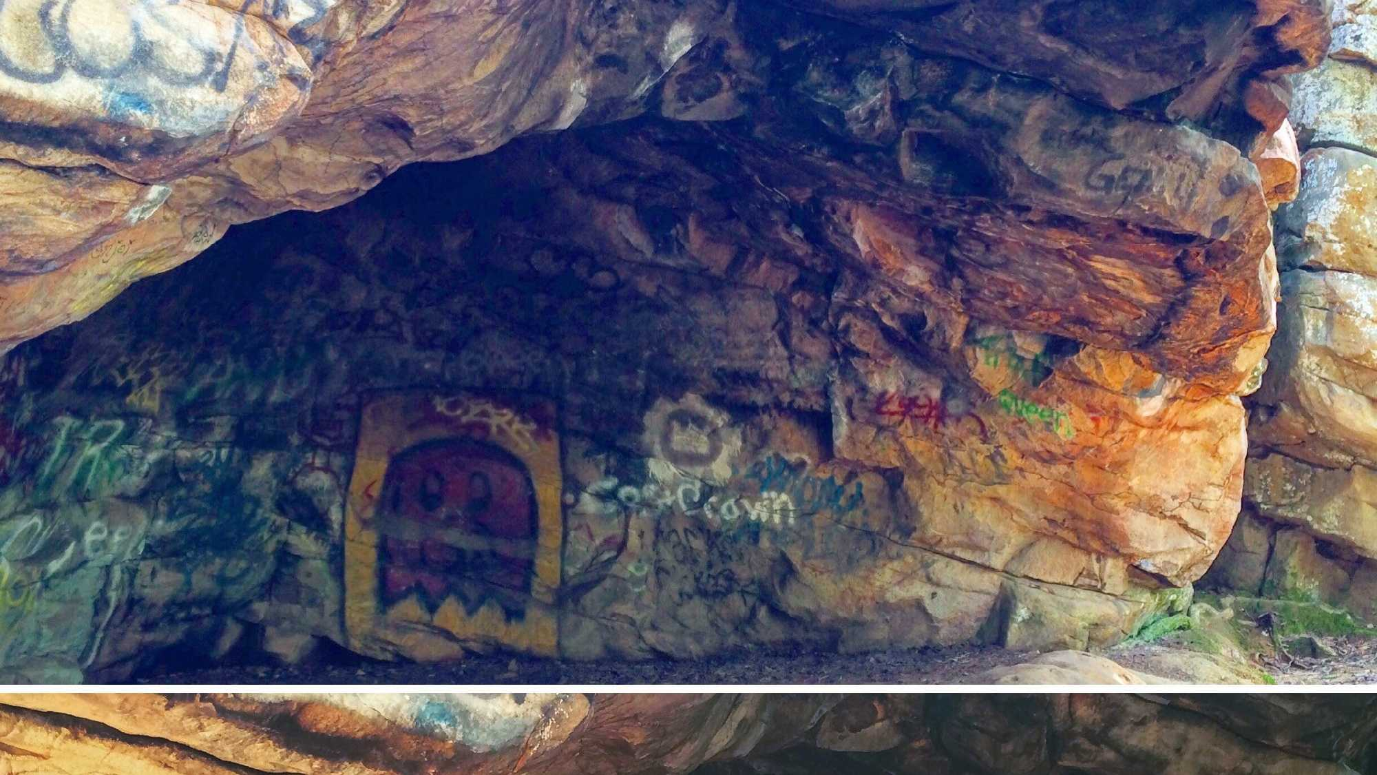 Graffiti is becoming a reoccurring issue at Moss Rock Preserve in Hoover.