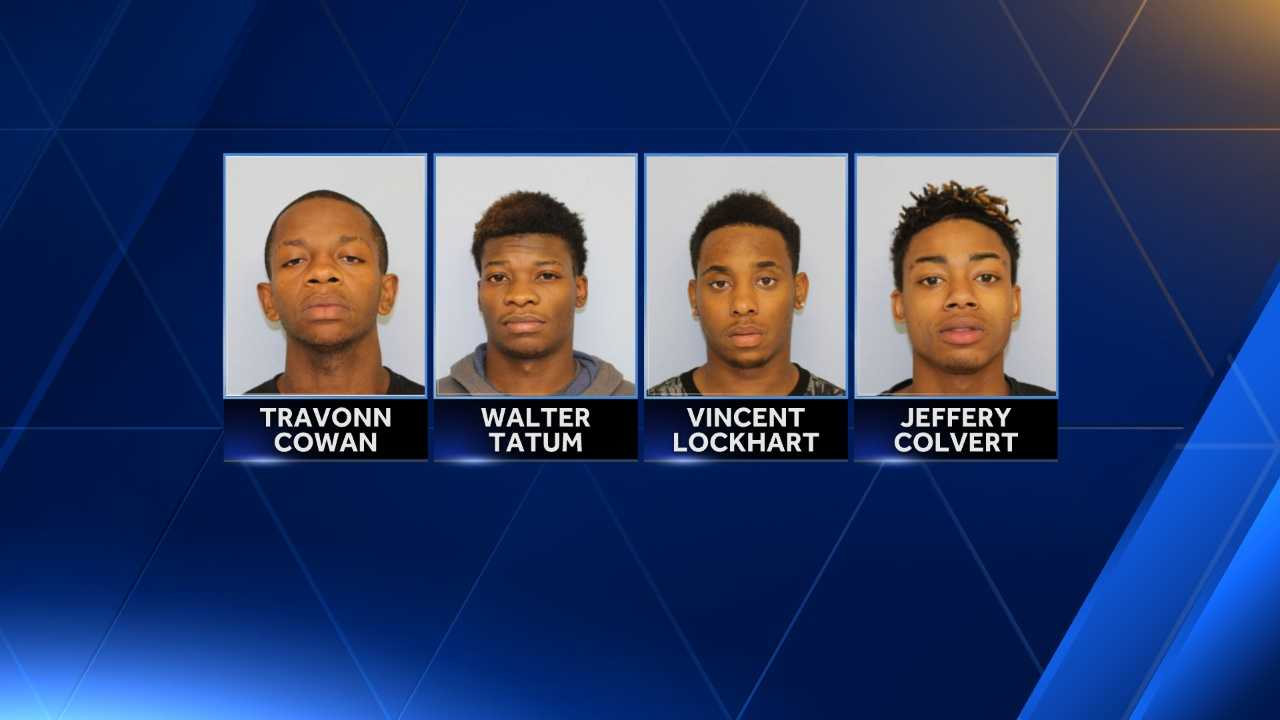 Police later found Vincent C. Lockhart, 20, Walter J. Tatum, 18, Travonn D. Cowan, 18, and Jeffrey L. Colvert Jr, 18, have been charged with robbing a Pokémon Go player in Auburn overnight.
