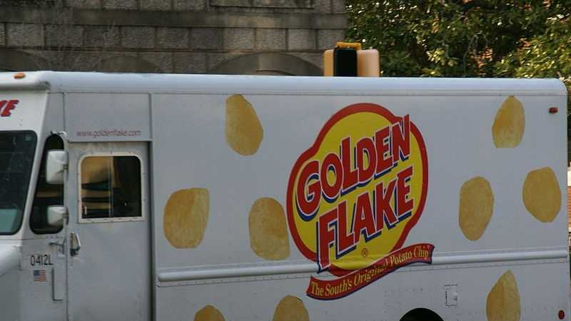 Golden Flake delivery truck