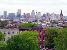Baltimore, host of the first DNC, has been the host nine times. (1832, 1835, 1840, 1844, 1848, 1852, 1860, 1872, 1912)Phil! Gold -Baltimore Skyline- Creative Commons Flickr
