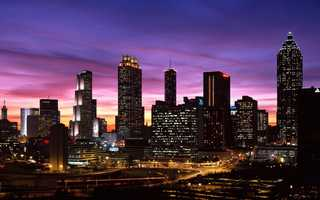 Atlanta hosted the DNC for the first and only time in 1988.Tableatny - Atlanta, Georgia, downtown skyline, dusk - Creative Commons Flickr