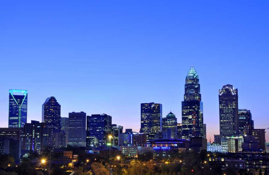 Charlotte held the most recent DNC for the city's first time in 2012.James Willamor - Charlotte Skyline - Creative Commons Flickr