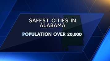 According to ValuePenguin and the most recent FBI Crime Report, these are the safest cities in Alabama with a population of 20,000 or more. The crime score takes in to account violent and property crime and adjusts it per population size.