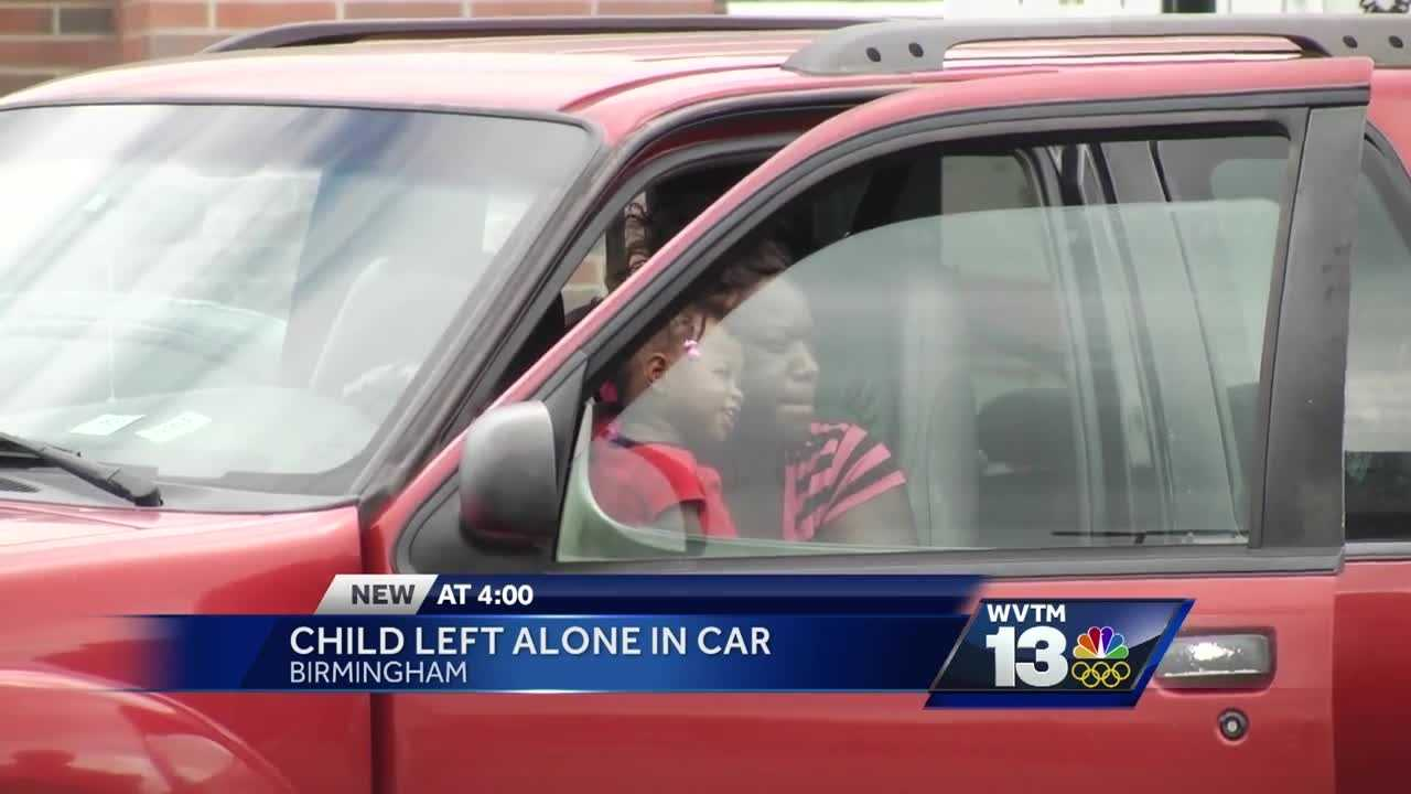 A child is in DHR custody after being left alone inside a vehicle in the Walmart parking lot Thursday.