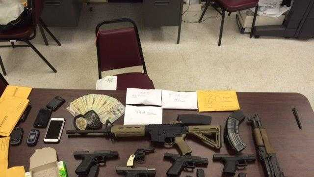 Guns, narcotics and currency were seized during a July 28 search warrant execution in Birmingham's Ensley neighborhood. Of the seven guns, six were reported stolen.