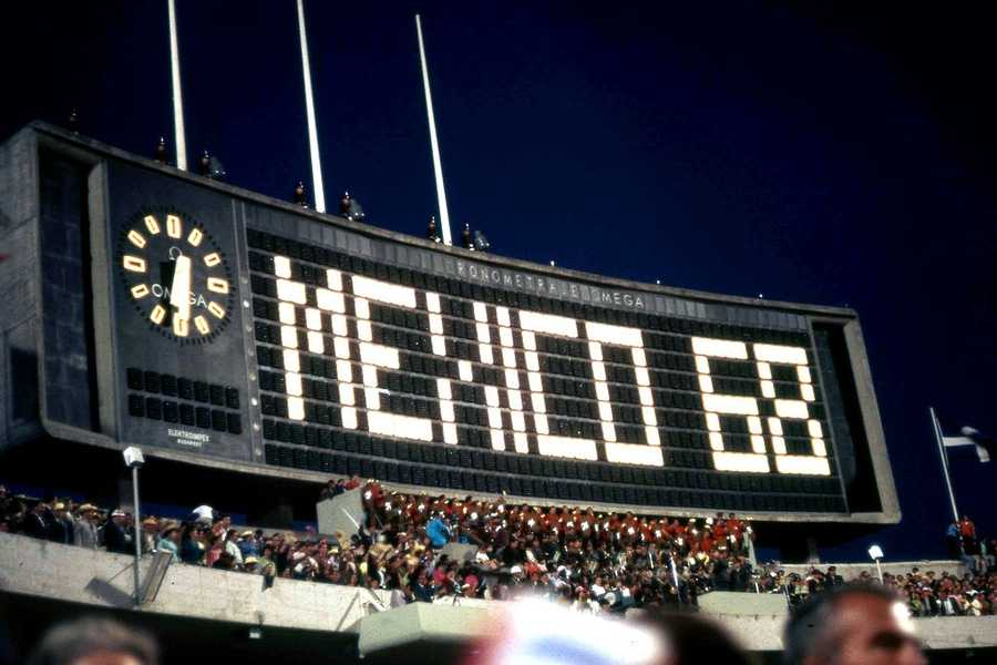 Mexico hosted the Summer Olympics in 1968. Opening of the 1968 olympic games at the estadio olimpico universitario in mexico city - Sergio Rodriquez - Creative Commons Wiki