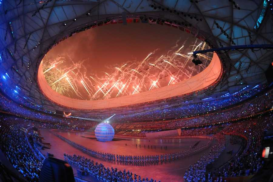 China hosted the 2008 Summer Olympics. 2008 Summer Olympics - Opening Ceremony - Timm Hipps - Creative Commons Flickr