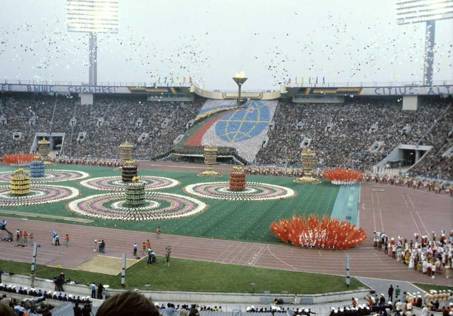 Russia hosted the Summer Olympics in 1980 when the country was still the Soviet Union. Opening ceremonyo f the 1980 Olympic Games - Sergey Guneev - Creative Commons Wiki