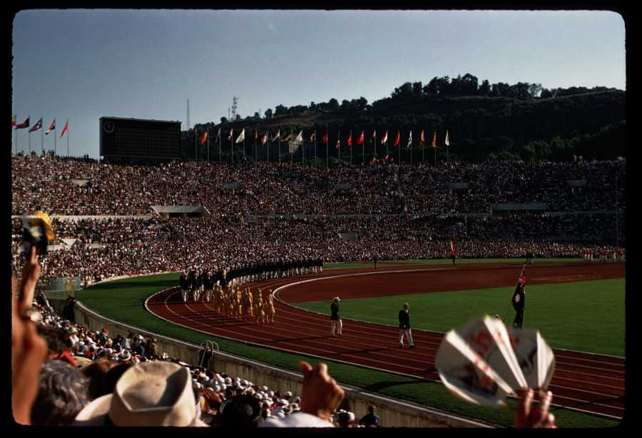 Italy hosted the summer games in 1960. Rome olympics 1960 Opening Day - Alex Dawson - Creative Commons Flickr