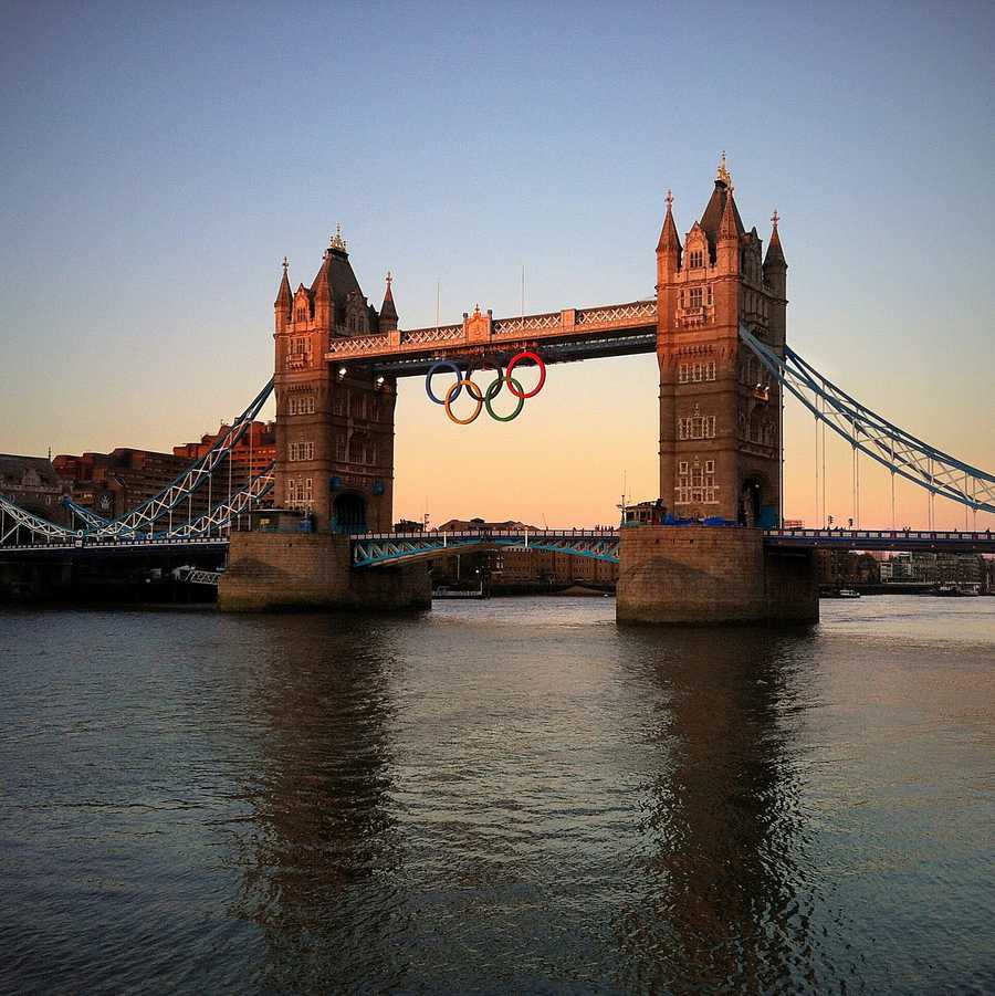 The Summer Olympics have been held in the UK three times overall. The UK was selected to host the 1944 games, but due to World War II, the Olympics were cancelled. (1908, 1948, 2012)Tower Bridge with olympic Rings - Mike Rolls - Creative Commons Flickr