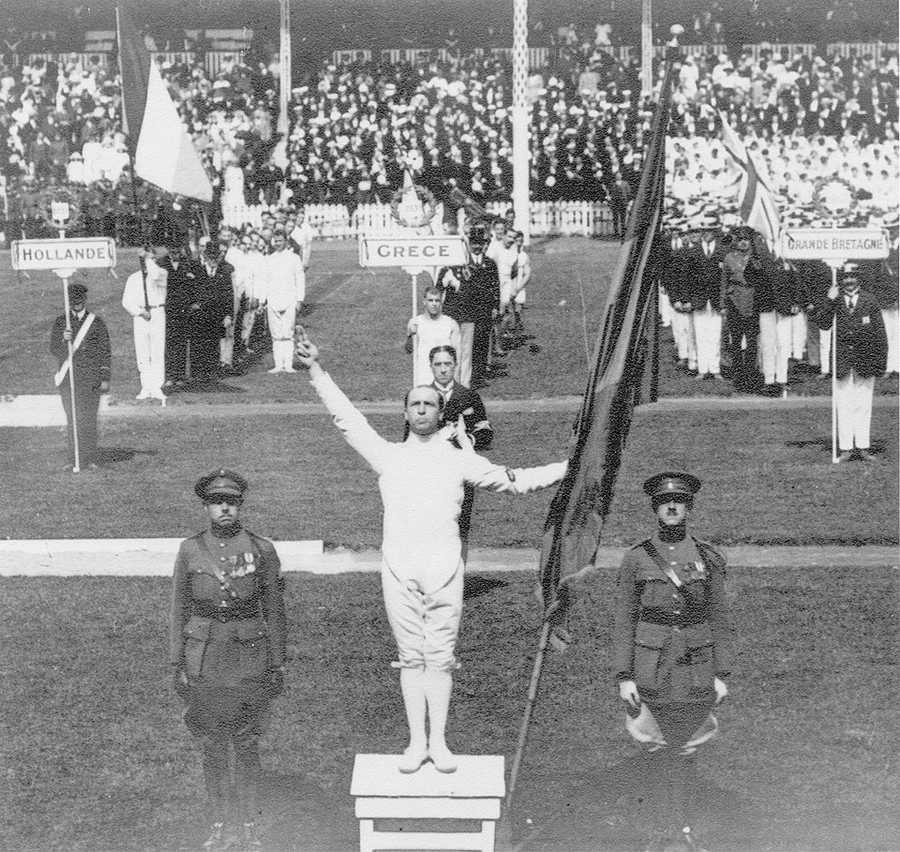 The Summer Olympics were held in Belgium for the first and only time in 1920. Victor Boin giving first Olympic oath -Creative Commons Wiki