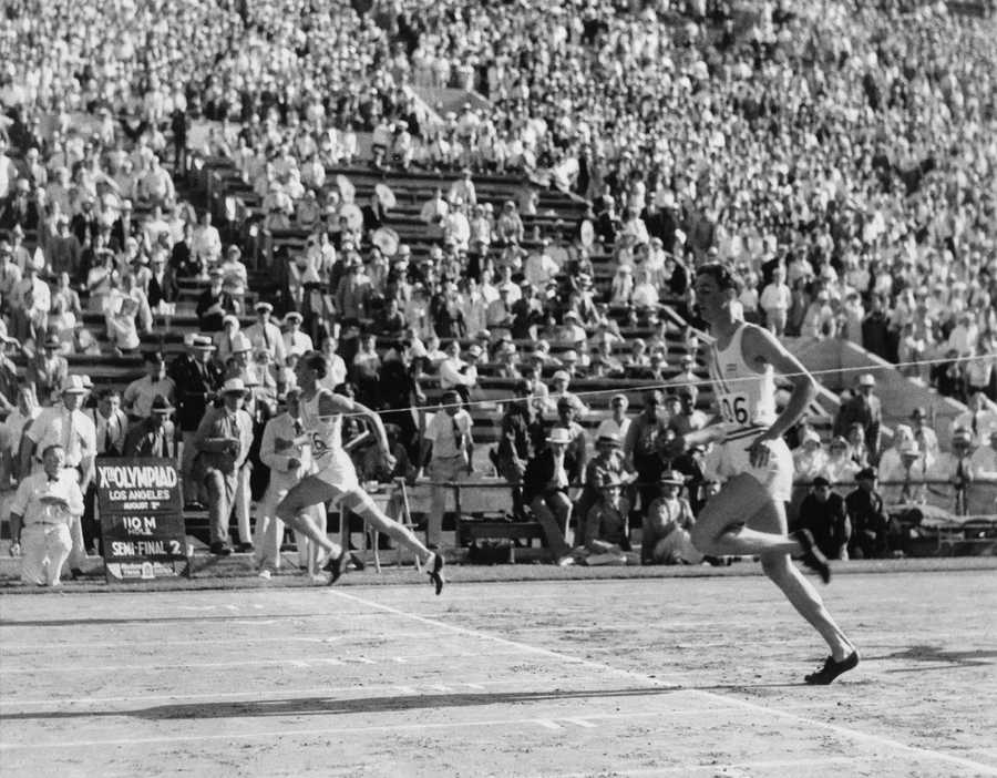 Percy Beard (right) received a silver medal in the 110m hurdles at the 1932 Summer Olympics in Los Angeles. Beard attended Auburn University where he competed in track and field.