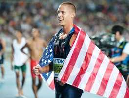 Trey Hardee of Birmingham took the silver medal in men's decathlon in 2008.Trey Hardee during 2011 World Championships Athletics in Daegu - Erik van Leeuwen - Creative Commons Wiki