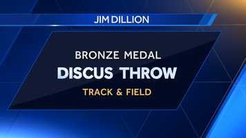 Auburn University alum Jim Dillion received a bronze medal in the discus throw at the 1952 summer games.