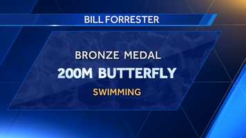 Auburn University alum Bill Forrester placed third in 200m butterfly at the 1972 Summer Olympics.