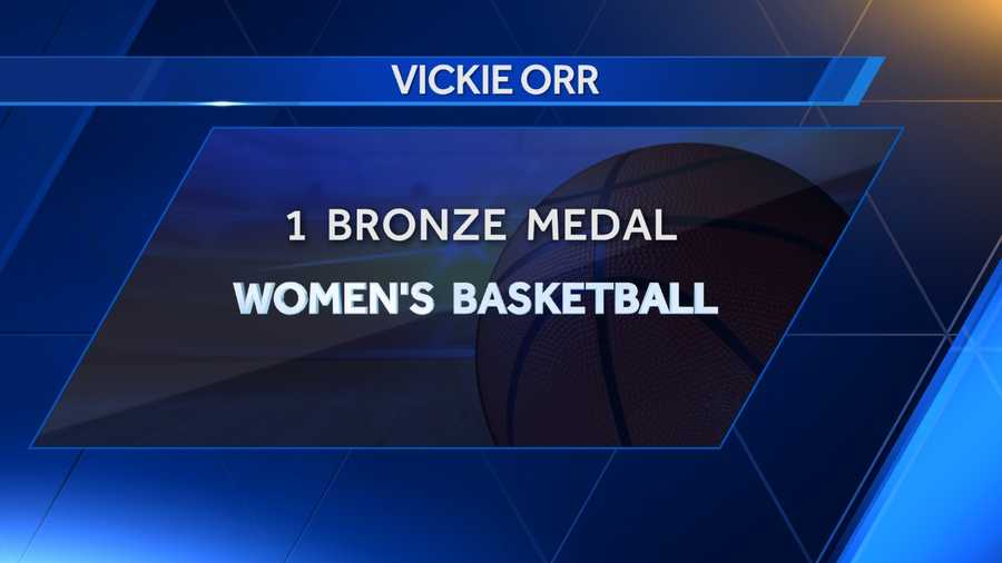 Vickie Orr of Hartselle won a bronze medal with the women's basketball team at the 1992 Summer Olympics in Barcelona.