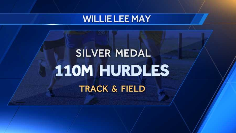 Willie Lee May of Knoxville, Alabama received a silver medal for placing second in 110m hurdles in 1960.