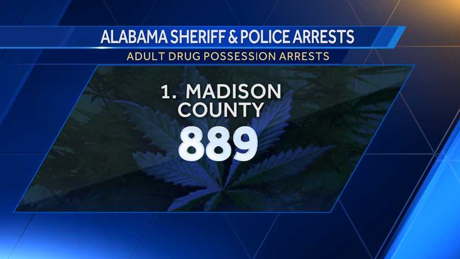 Opium/Cocaine: 172Marijuana: 350Synthetic drugs: 284Other: 83
