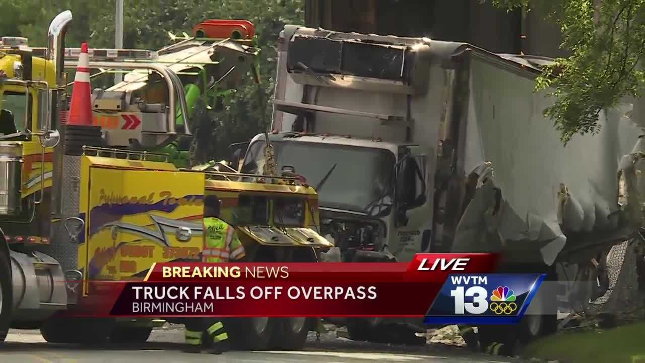 One person is dead after a truck crashed off of I-65  Friday afternoon.