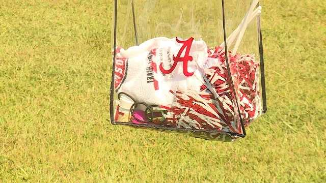UA football adds clear bag rule, family-friendly tailgating