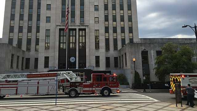Birmingham City Hall evacuated due to smoke