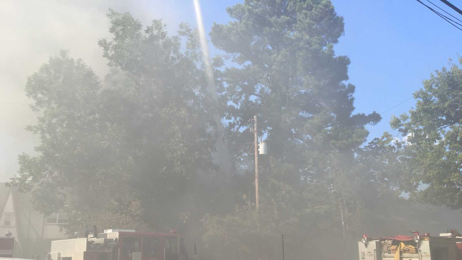 Three homes in the Ensley community caught fire in less than hour Wednesday afternoon.