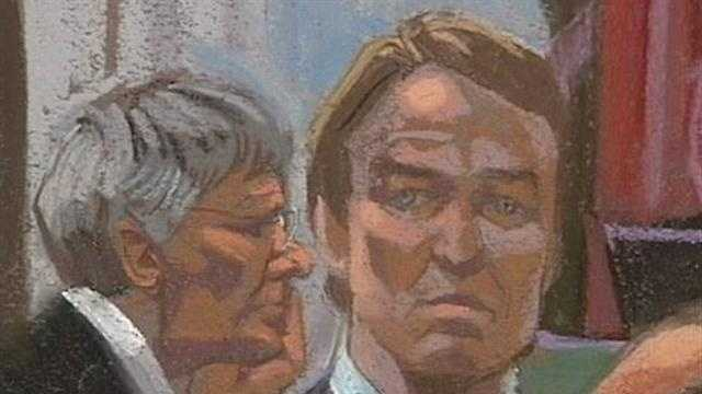 Courtroom sketch from the John Edwards trial in Greensboro