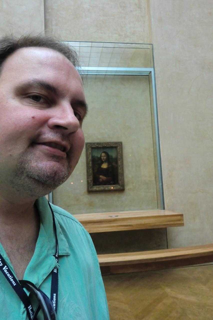 The Mona Lisa in the Louvre Museum in Paris, France