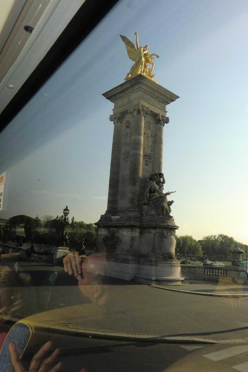 Pegasus, Pont Alexandre III in Paris, France.