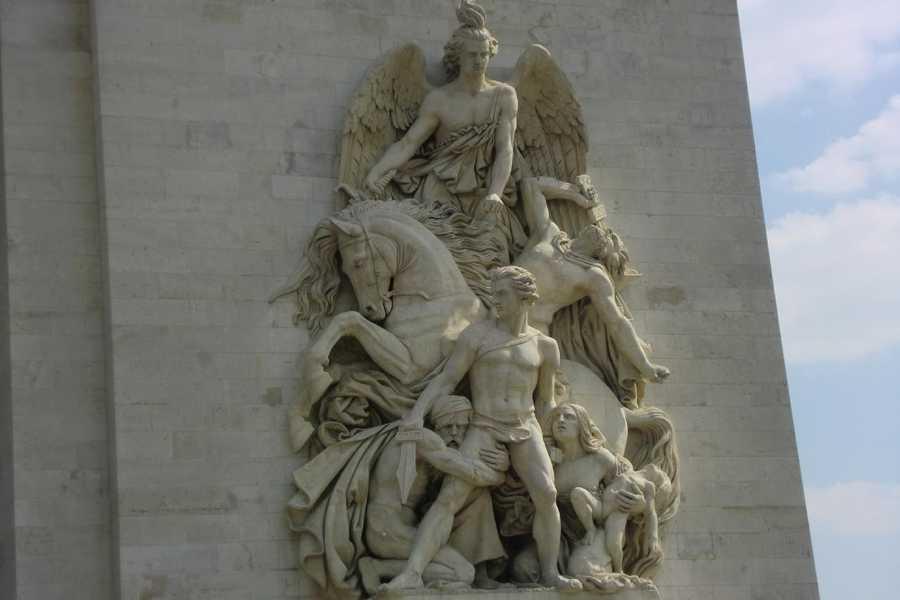 Incredible artwork at the Paris, France Arc de Triomphe
