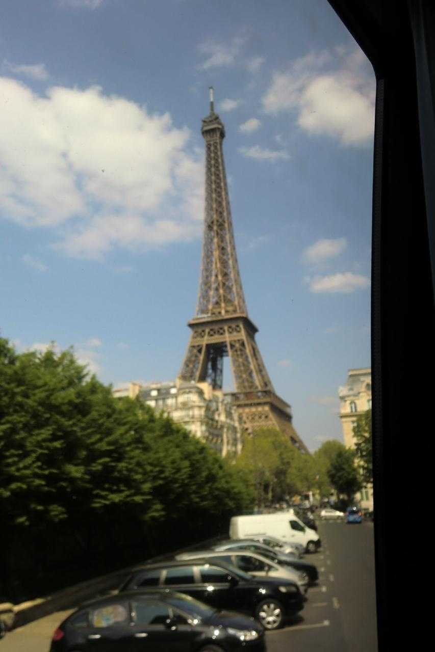Whether you go on your honeymoon or have a wedding in Paris, France look for a hotel room with these great views. The Eiffel Tower will greet you and your guests from the room.