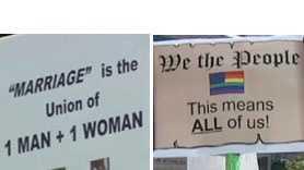 Marriage Amendment signs