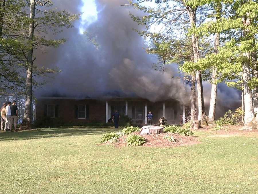 Crews spent Thursday morning battling a house fire in Alleghany County.