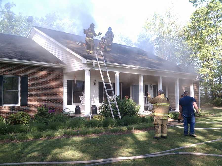 Four fire departments responded to the scene (Glade Creek, Cherry Lane, Sparta and Galax).