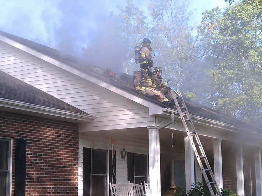 There were no immediate reports of injuries, though four firefighters had to be treated for heat exhaustion.